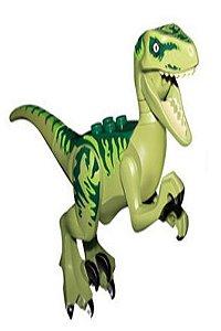 Brinquedo Dinossauro Velociraptor Verde Lego Compatível (12 CM de Comprimento) - Jurassic World