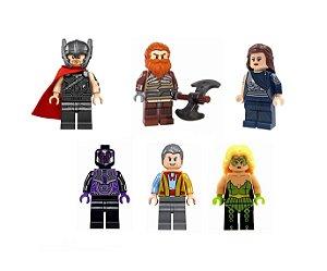 Set Thor Ragnarok LEGO compatível (com 6) - Marvel