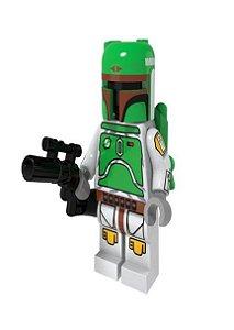 Boneco Boba Fett Star Wars Lego Compatível