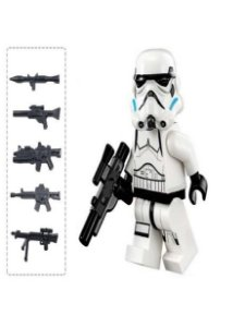 Boneco Stormtrooper Clássico Star Wars Lego Compatível c/ 6 Armas (Edição Deluxe)