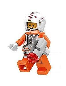 Boneco Luke Skywalker Piloto Star Wars Lego Compatível (Edição Deluxe)