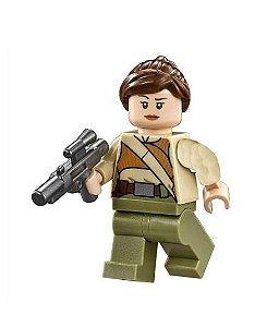 Boneco Soldada Resistência Star Wars Lego Compatível