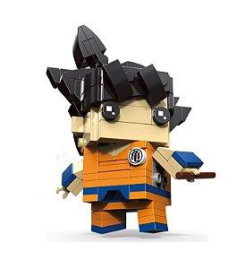 Bloco de montar Brickheadz Goku 154 pçs - Dragon Ball Lego Compatível