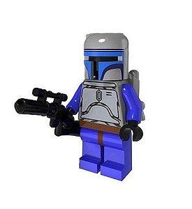 Boneco Jango Fett Star Wars Lego Compatível