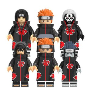 Kit Akatsuki LEGO compatível c/6 - Naruto Shippuden (Edição Deluxe)