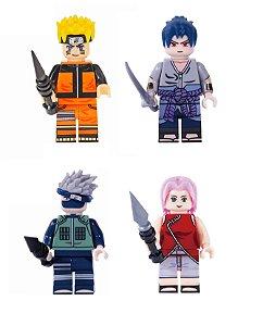 Kit Naruto Shippuden LEGO compatível c/4 (Edição Deluxe)