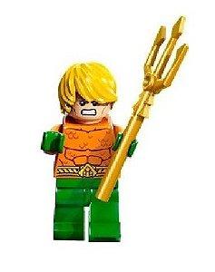 Mini Figura Compatível Lego Aquaman clássico  DC Comics (Edição especial)
