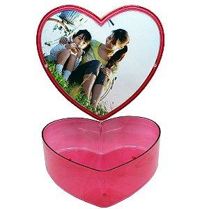 10 - Caixa Coração Vermelho Porta foto