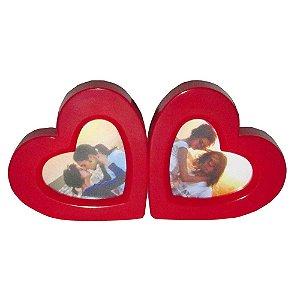 5 - Porta Retrato duplo Coração