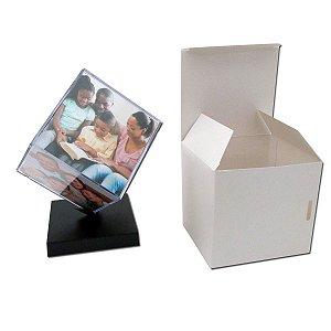 6 - Cubo Giratório Tamanhos 6x6 cm ou 9x9 cm com caixa branca