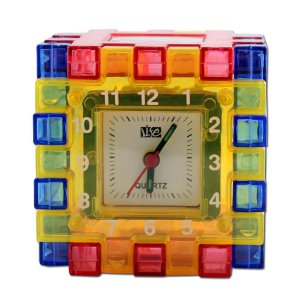 1 - Cubo Colorido relógio desmontável