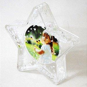 1 - Porta retrato Estrela flocos de neve