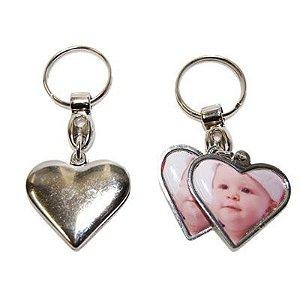 10 - Chaveiro coração duplo com resina e caixa