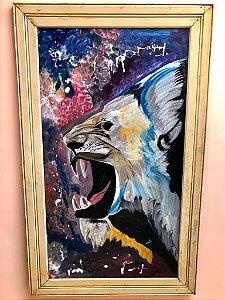 Quadro Artesanal Grande - Leão