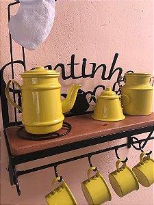 Kit Completo Cantinho do Café  -  Amarelo