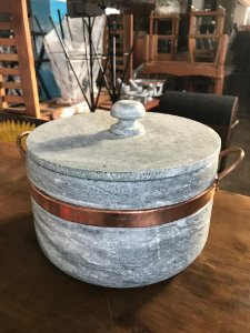 Panela Pedra Sabao grande artesanal - 4 LT