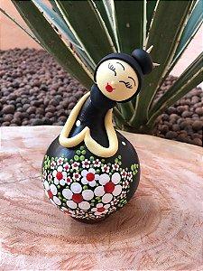 Boneca Decorativa Japonesa Cabaça