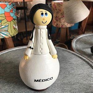 Boneco Decorativo Profissões Médico Cabaça