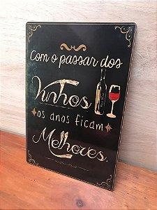 Quadro Decorativo de MDF Vinhos