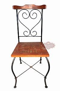Cadeira Rococó Ferro e Madeira