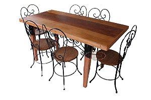 Jogo de Mesa com 6 cadeiras Arabesco