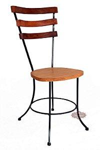 Cadeira Ferro e Madeira 3 réguas