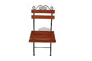 Cadeira Ferro e Madeira Dobrável