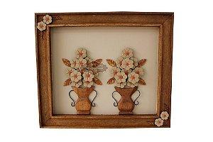 Quadro de Jarros com Flores - 70 cm x 60 cm