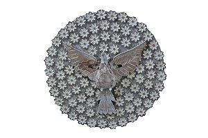 Mandala Divino Espírito Santo - Flores Entalhadas