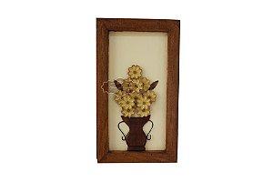 Quadro de Jarro com Flor - 60 cm x 34 cm