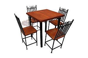 Conjunto Especial de Mesa e 4 Cadeiras