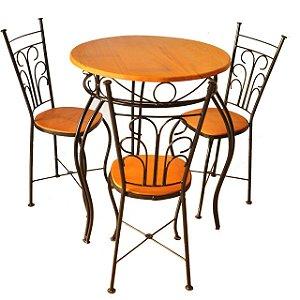 Jogo de Mesa e Cadeira - Fixo