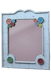 Moldura branca com espelho