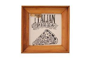 Quadrinho decorativo desenho em pizza