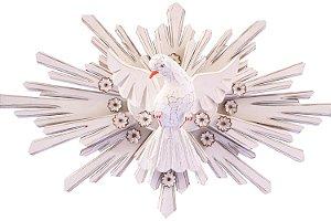 Divino Espírito Santo branco com flores