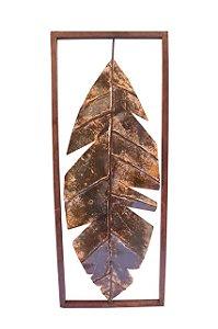 Quadro Folha Palmeira em Ferro e Artesanal