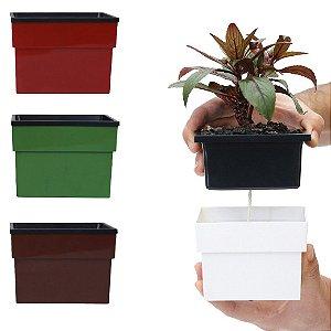 Kit C/4 Mini Vasos Auto Irrigáveis Plantamos