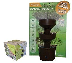 Horta Vertical Verde Vida Auto Irrigável C/ Rodízios - Marrom