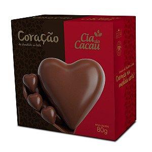 CORAÇÃO CHOCOLATE AO LEITE 80g