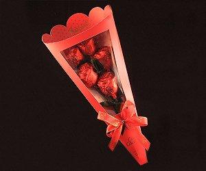 CHOCOLATE LEITE BUQUE C/5 ROSAS 125g