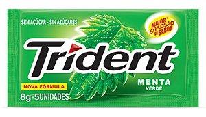 TRIDENT CHICLETE  MENTA 8g