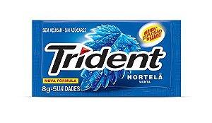 TRIDENT CHICLETE  HORTELÃ 8g