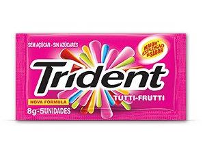 TRIDENT CHICLETE TUTTI-FRUTTI 8g