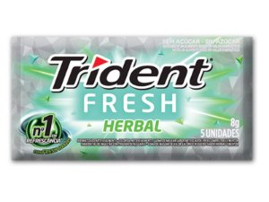 TRIDENT CHICLETE HERBAL FRESH 8g