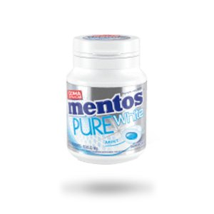 MENTOS CHICLETE PURE WHITE 56g