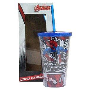 CRIATIVA COPO CANUDO SPIDER MAN 2 500 ml