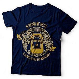 Camiseta Masculina - O Reino de Deus e o grão de mostarda