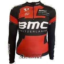 Camisa Ciclista manga Longa BMC