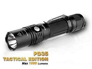 Lanterna Tática Fenix PD35 TAC Profissional Led Cree 1000 Lumens Versão Tactical Policial