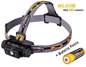 Lanterna de Cabeça  Fenix HL60R Recarregável Led 950 Lumens Resistente a Àgua e Impactos